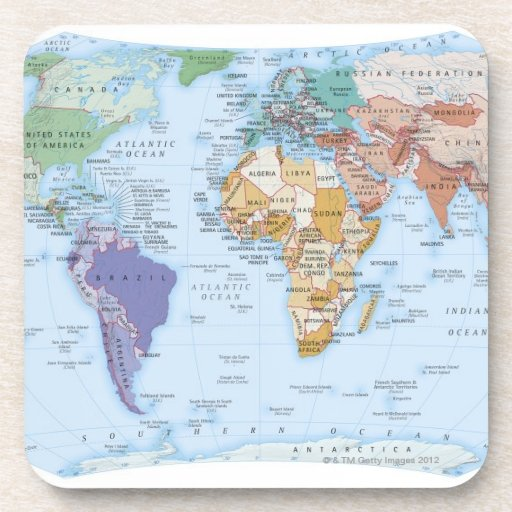 Illustrated Map 4 Drink Coasters