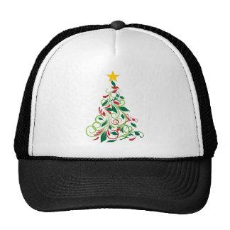 Illustrated Modern Christmas tree apparel Mesh Hat