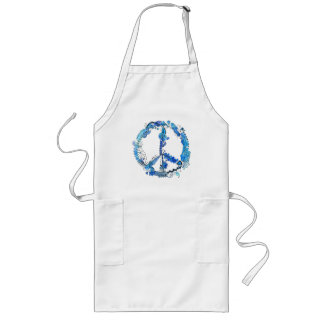 Illustrated Peace Sign Pen Art with Blue Apron