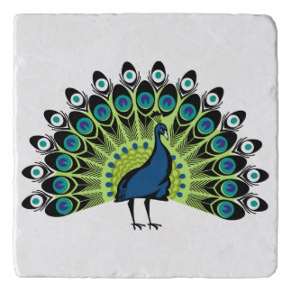 illustrated Peacock Trivet