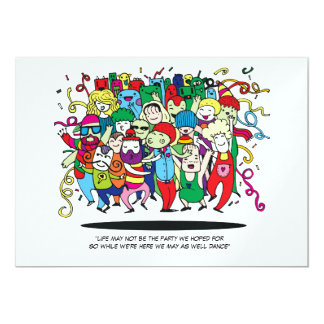 Illustrated People Dancing Card