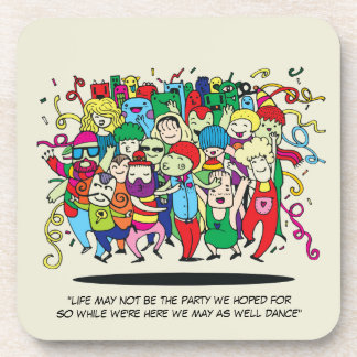 Illustrated People Dancing Coaster