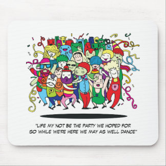 Illustrated People Dancing Mouse Pad