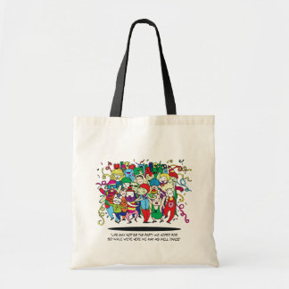 Illustrated People Dancing Tote Bag