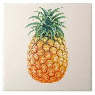 Illustrated Pineapple design Ceramic Tile