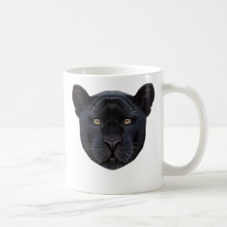 Illustrated portrait of Black Panther. Coffee Mug