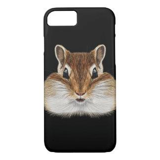 Illustrated portrait of Chipmunk. iPhone 8/7 Case