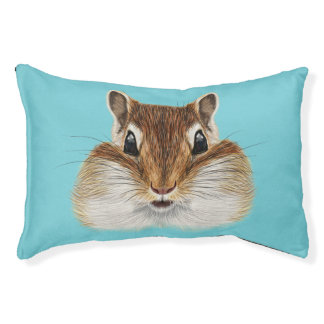 Illustrated portrait of Chipmunk. Pet Bed
