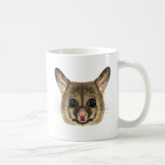 Illustrated portrait of Common brushtail possum. Coffee Mug