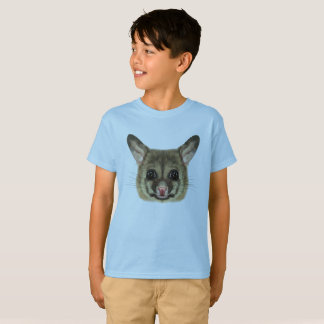 Illustrated portrait of Common brushtail possum. T-Shirt