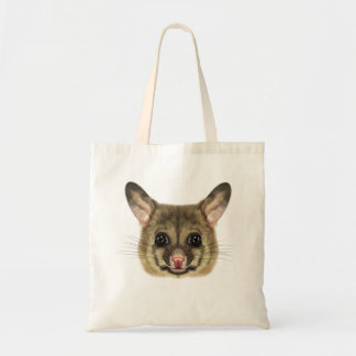 Illustrated portrait of Common brushtail possum. Tote Bag