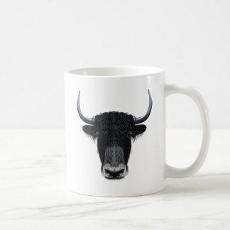 Illustrated portrait of Domestic yak. Coffee Mug