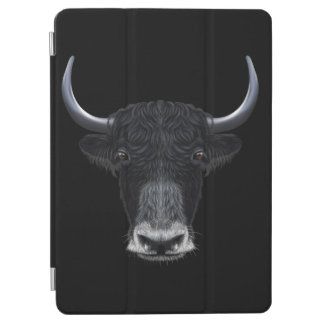 Illustrated portrait of Domestic yak. iPad Air Cover