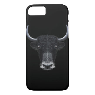 Illustrated portrait of Domestic yak. iPhone 8/7 Case