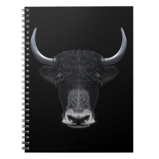 Illustrated portrait of Domestic yak. Notebooks