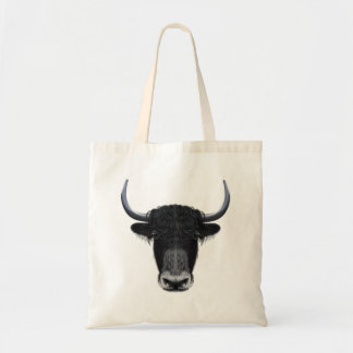 Illustrated portrait of Domestic yak. Tote Bag
