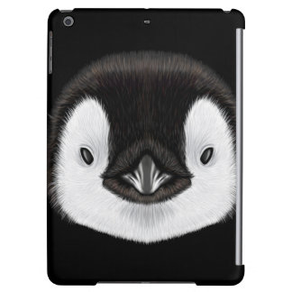 Illustrated portrait of Emperor penguin chick.