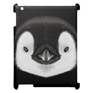 Illustrated portrait of Emperor penguin chick. Case For The iPad