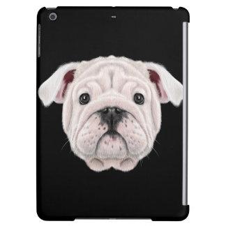 Illustrated portrait of English Bulldog puppy.