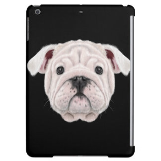 Illustrated portrait of English Bulldog puppy. Case For iPad Air