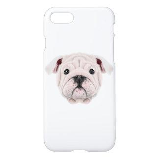 Illustrated portrait of English Bulldog puppy. iPhone 8/7 Case