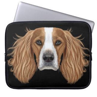 Illustrated Portrait of English Springer Spaniel. Laptop Sleeves