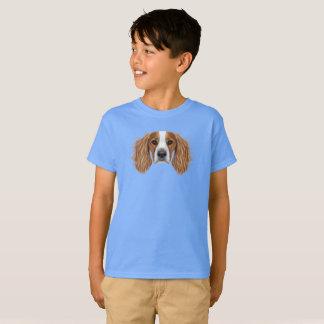 Illustrated Portrait of English Springer Spaniel. T-Shirt