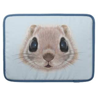 Illustrated portrait of Flying squirrel. Sleeve For MacBook Pro