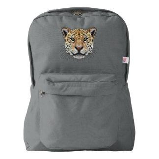 Illustrated portrait of Jaguar. Backpack