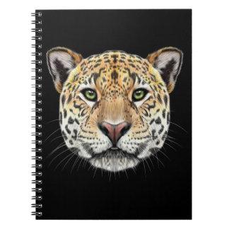 Illustrated portrait of Jaguar. Notebook