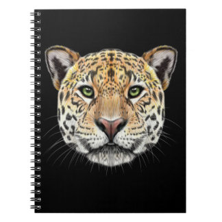 Illustrated portrait of Jaguar. Spiral Notebook