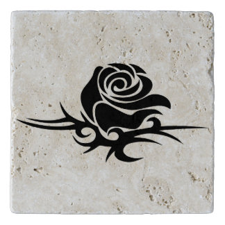Illustrated Rose Trivet