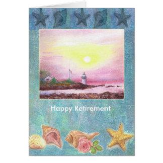 Illustrated Sails & Water nautical custom Greeting Card