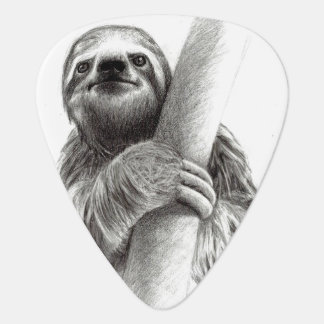 Illustrated Sloth Guitar Pick