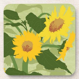 Illustrated Sunflowers Coaster