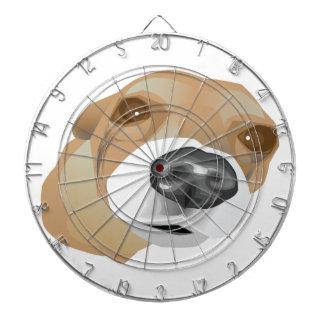 Illustrated vector portrait of a little dog dart board