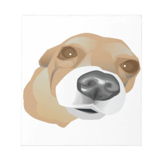 Illustrated vector portrait of a little dog notepad