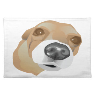 Illustrated vector portrait of a little dog placemat