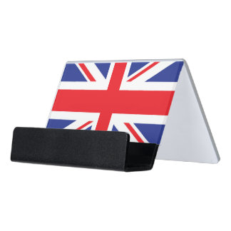 Illustrated version of the british flag desk business card holder