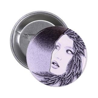 Illustrated Woman 6 Cm Round Badge
