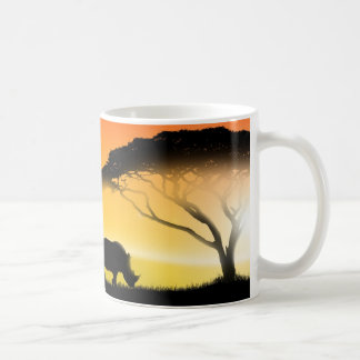 Illustration african landscape coffee mug