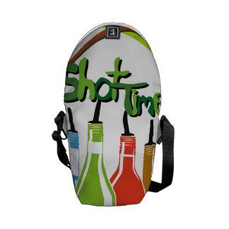 Illustration Alcohol bottles at a bar Commuter Bag