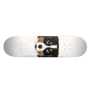 Illustration Bernese Mountain Dog 20 Cm Skateboard Deck