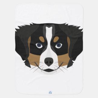 Illustration Bernese Mountain Dog Baby Blanket