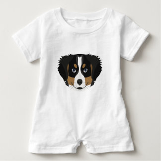 Illustration Bernese Mountain Dog Baby Bodysuit