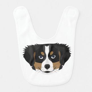 Illustration Bernese Mountain Dog Bib