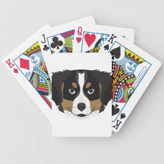 Illustration Bernese Mountain Dog Bicycle Playing Cards