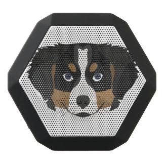 Illustration Bernese Mountain Dog Black Bluetooth Speaker