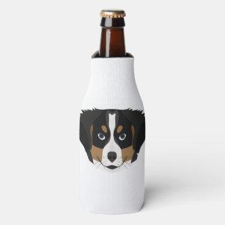 Illustration Bernese Mountain Dog Bottle Cooler