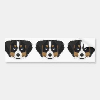 Illustration Bernese Mountain Dog Bumper Sticker
